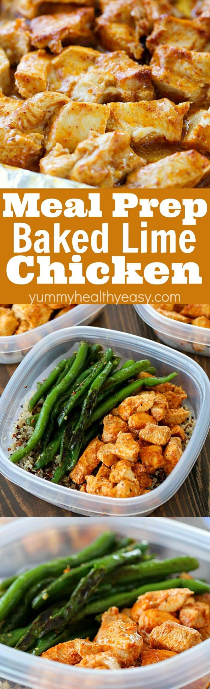 Healthy Baked Dinners  Meal Prep Baked Lime Chicken Bowls Yummy Healthy Easy