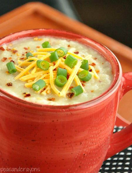 Healthy Baked Potato Soup  Crock Pot Veggie Loaded Baked Potato Soup