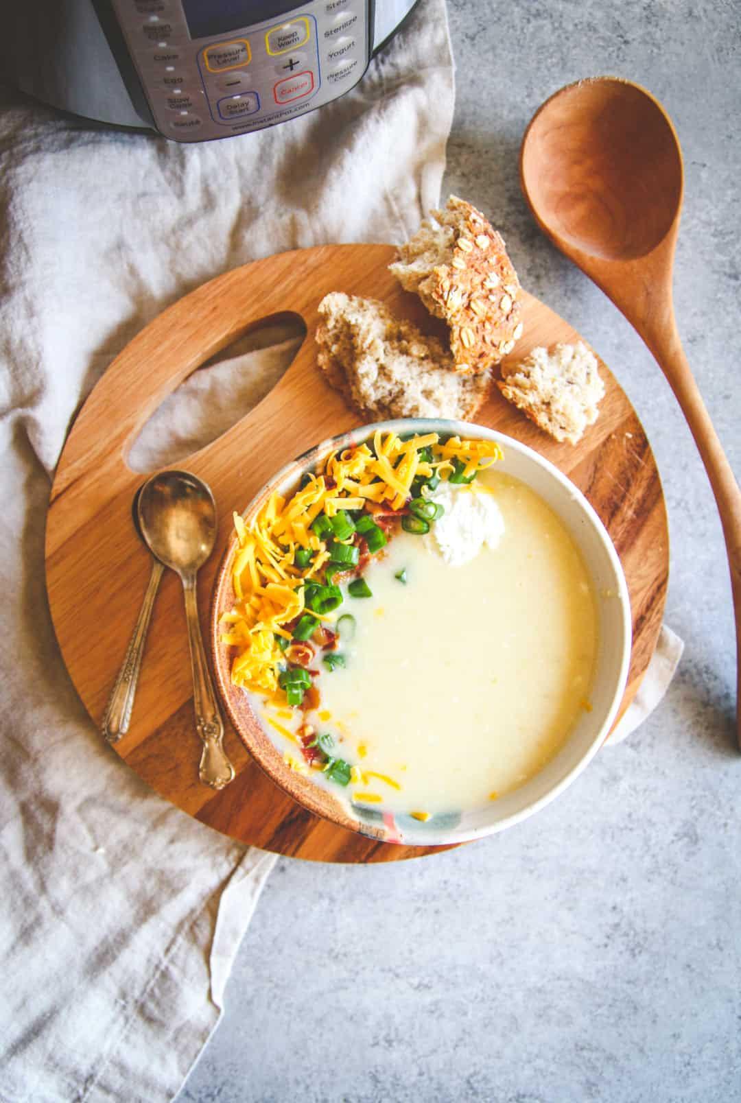 Healthy Baked Potato Soup  The Best Healthy Instant Pot Baked Potato Soup Recipe