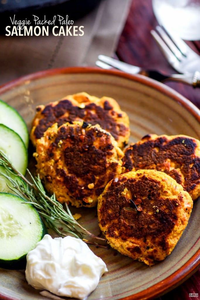 Healthy Baked Salmon Patties  Easy Ve able Packed Paleo Salmon Cakes