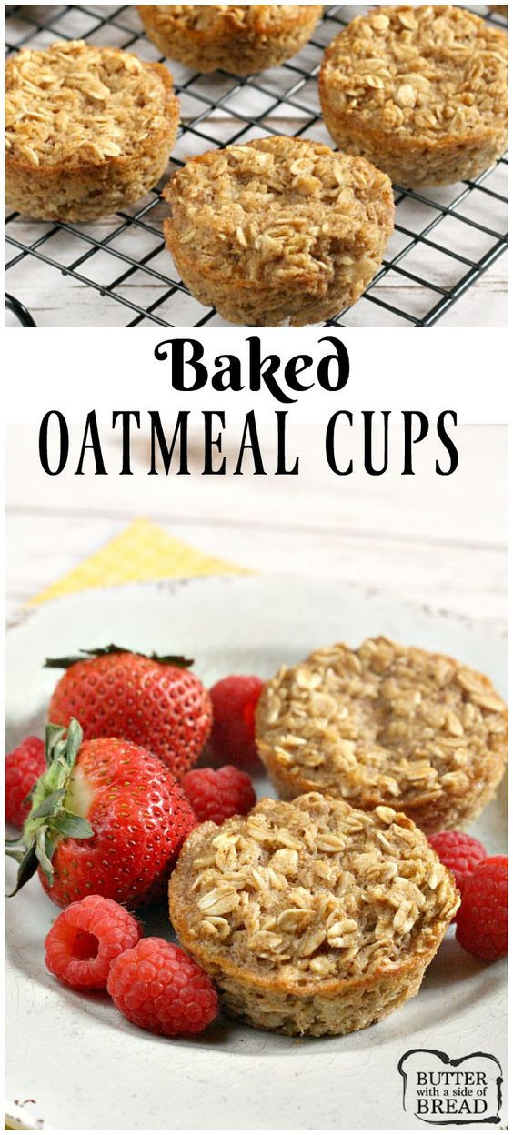 Healthy Baked Snacks  Baked Oatmeal Cups an easy delicious breakfast or snack