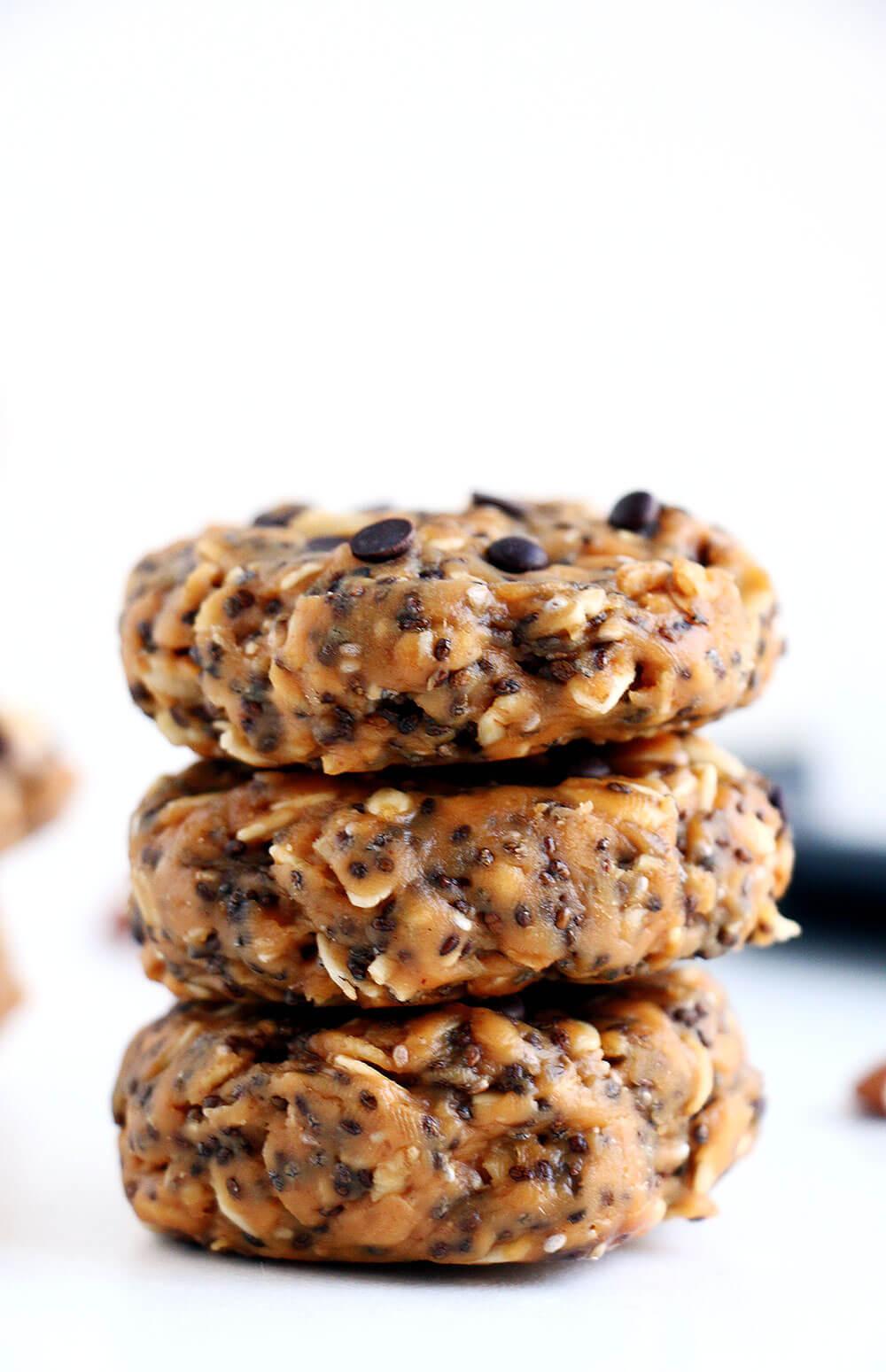 Healthy Baked Snacks  No Bake Breakfast Cookies I Heart Nap Time