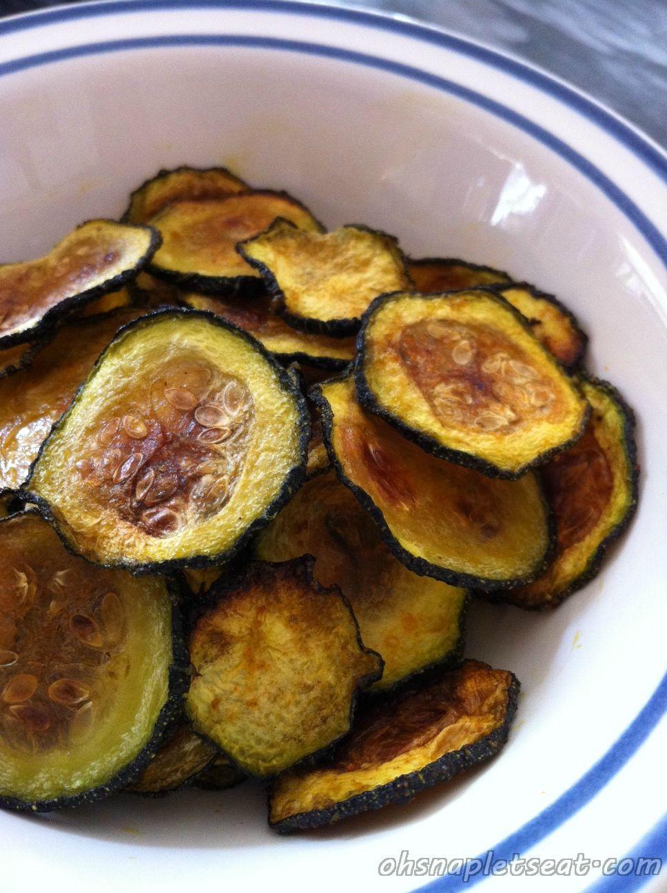 Healthy Baked Snacks  Oven Baked Zucchini Chips Paleo Keto Vegan Whole30