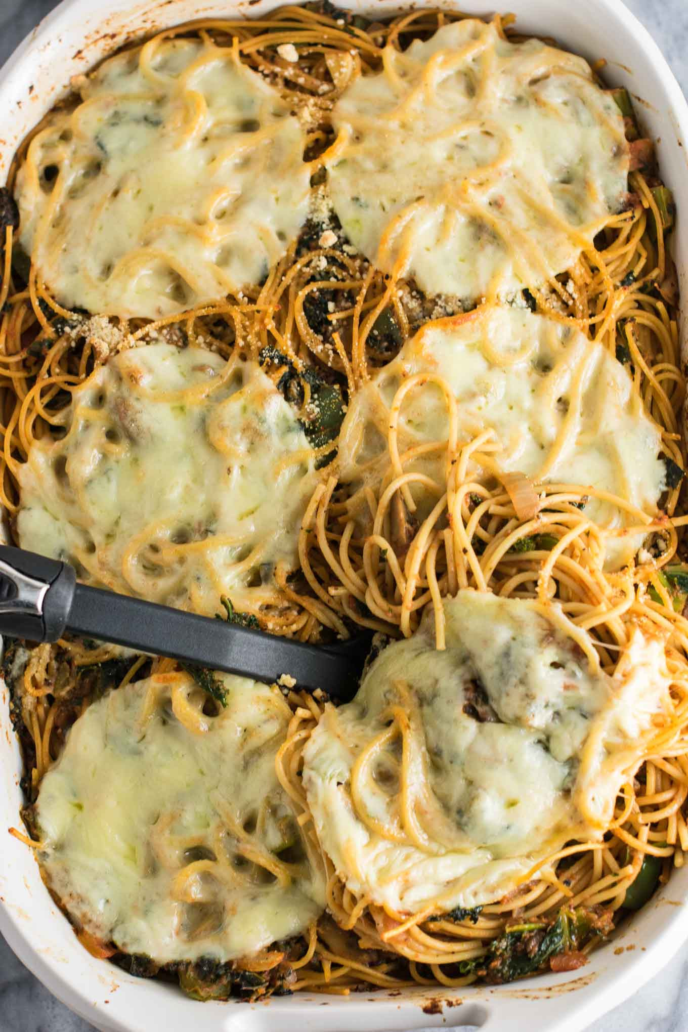 Healthy Baked Spaghetti  Healthy Baked Spaghetti Recipe with mushrooms bell