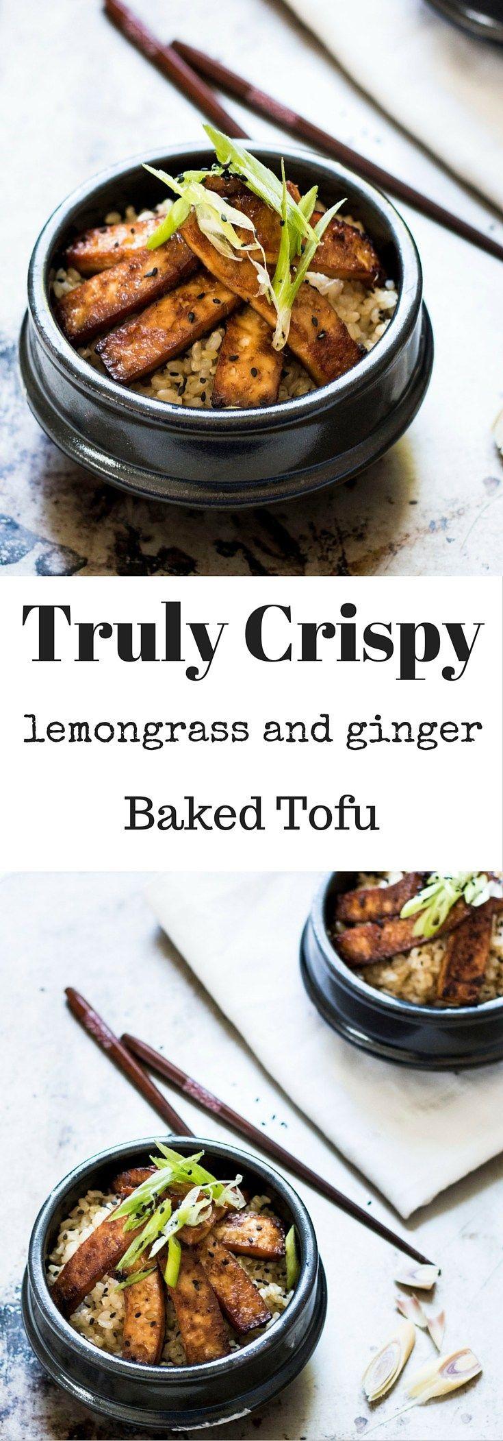 Healthy Baked Tofu Recipes  Truly Crispy Baked Lemongrass and Ginger Tofu