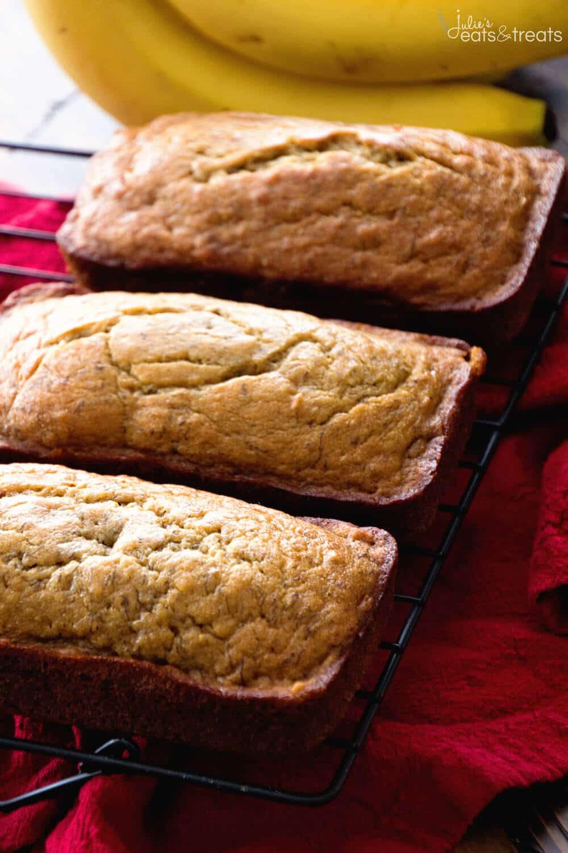 Healthy Banan Bread  easy healthy banana bread