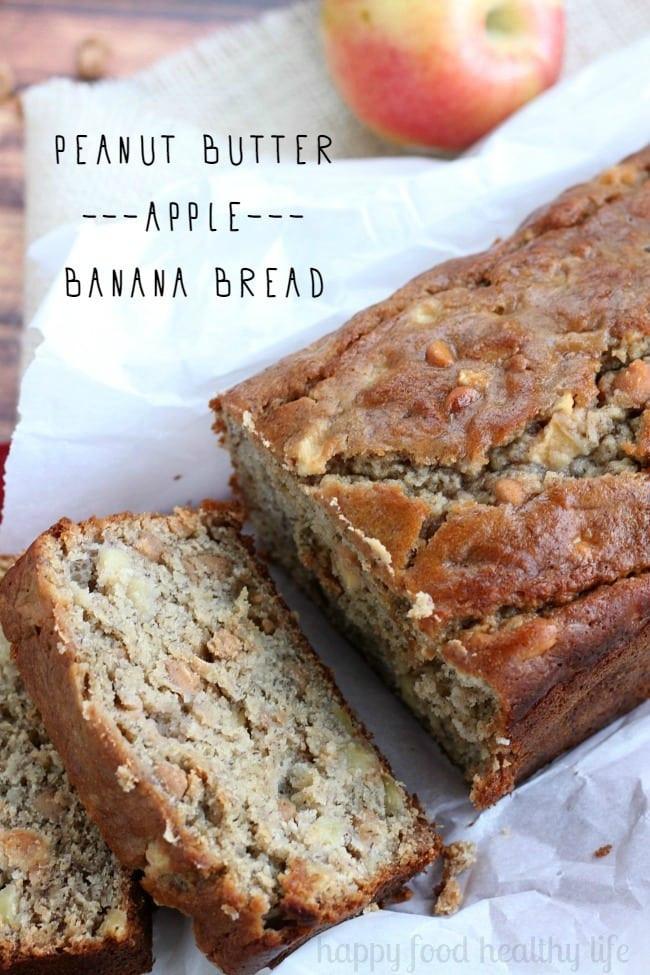 Healthy Banana Apple Bread  apple banana bread