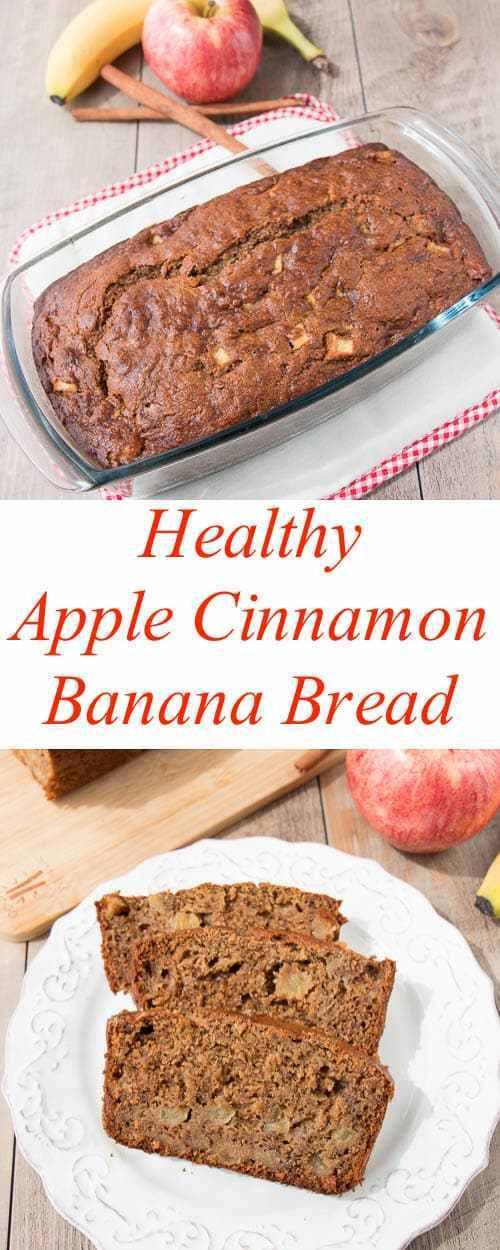 Healthy Banana Apple Bread  Healthy Apple Cinnamon Banana Bread video Little Sweet