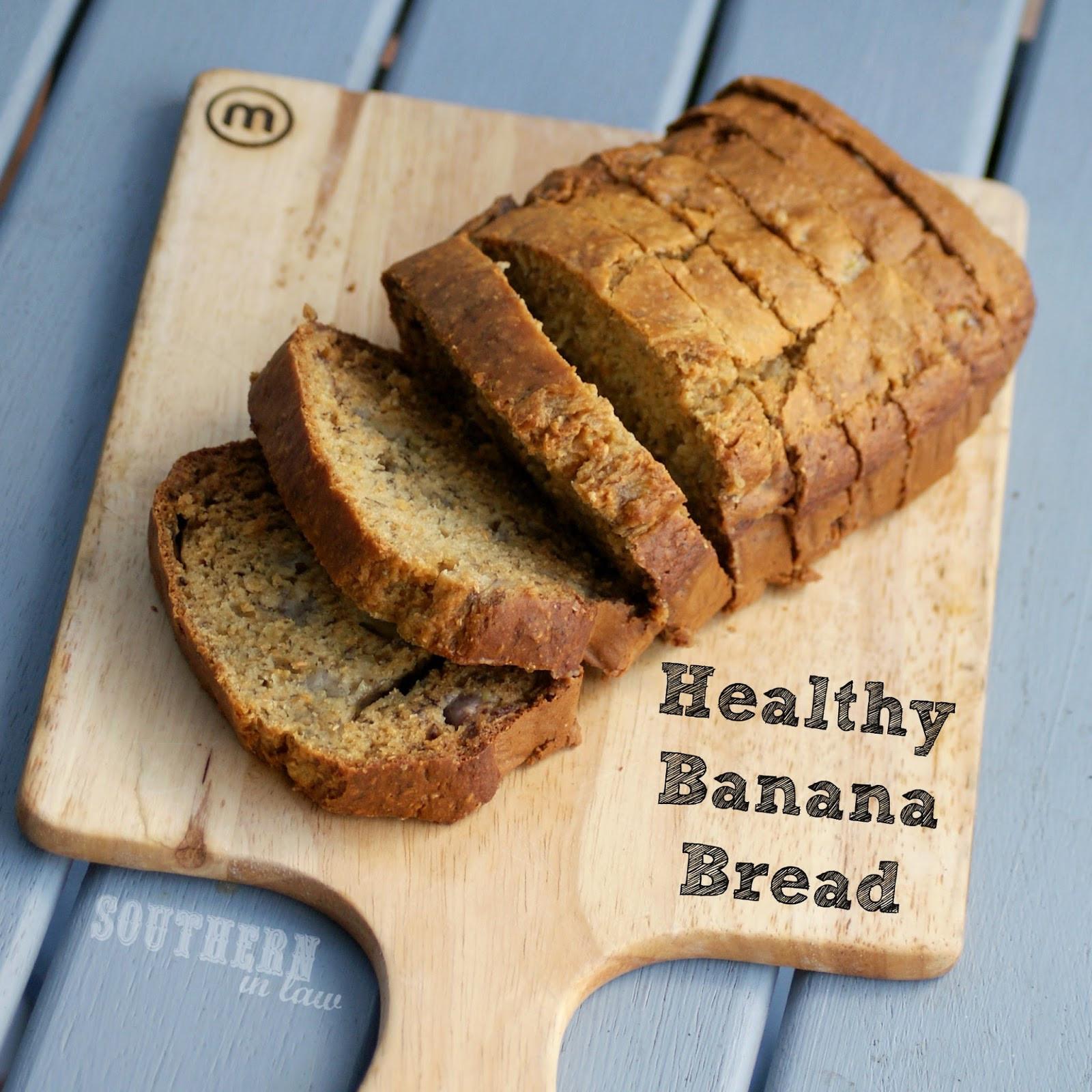 Healthy Banana Bread  Southern In Law Recipe Healthy Banana Bread