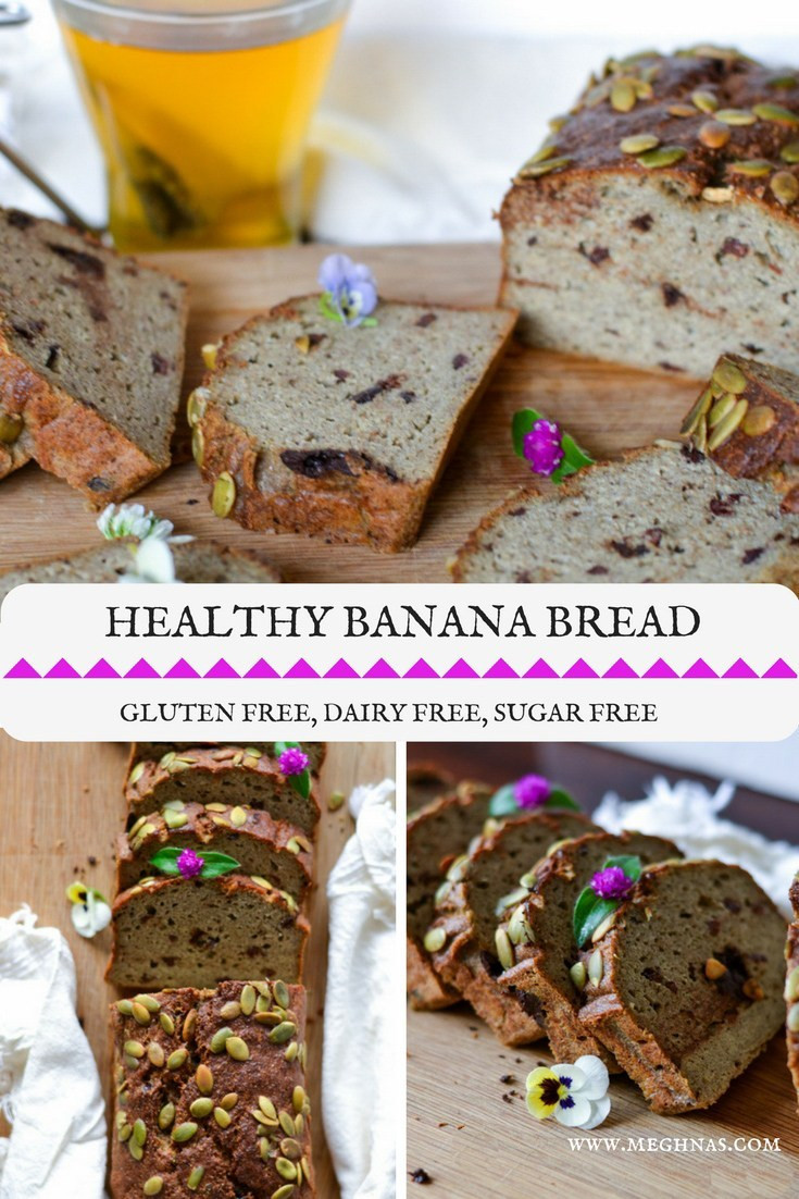 Healthy Banana Bread No Sugar  Healthy Banana Bread Gluten Free Sugar Free