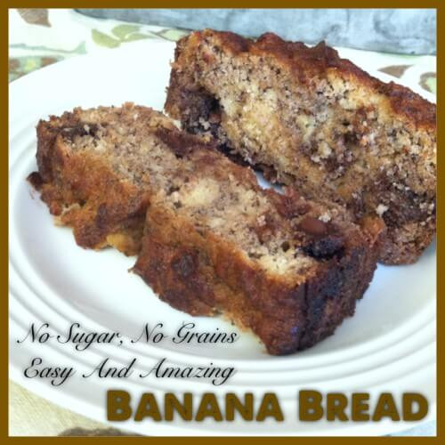 Healthy Banana Bread No Sugar  Another No Grain No Sugar Banana Bread