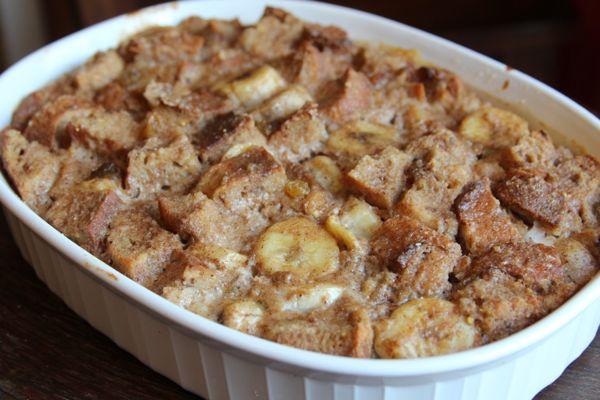 Healthy Banana Bread Pudding  Banana Bread Pudding