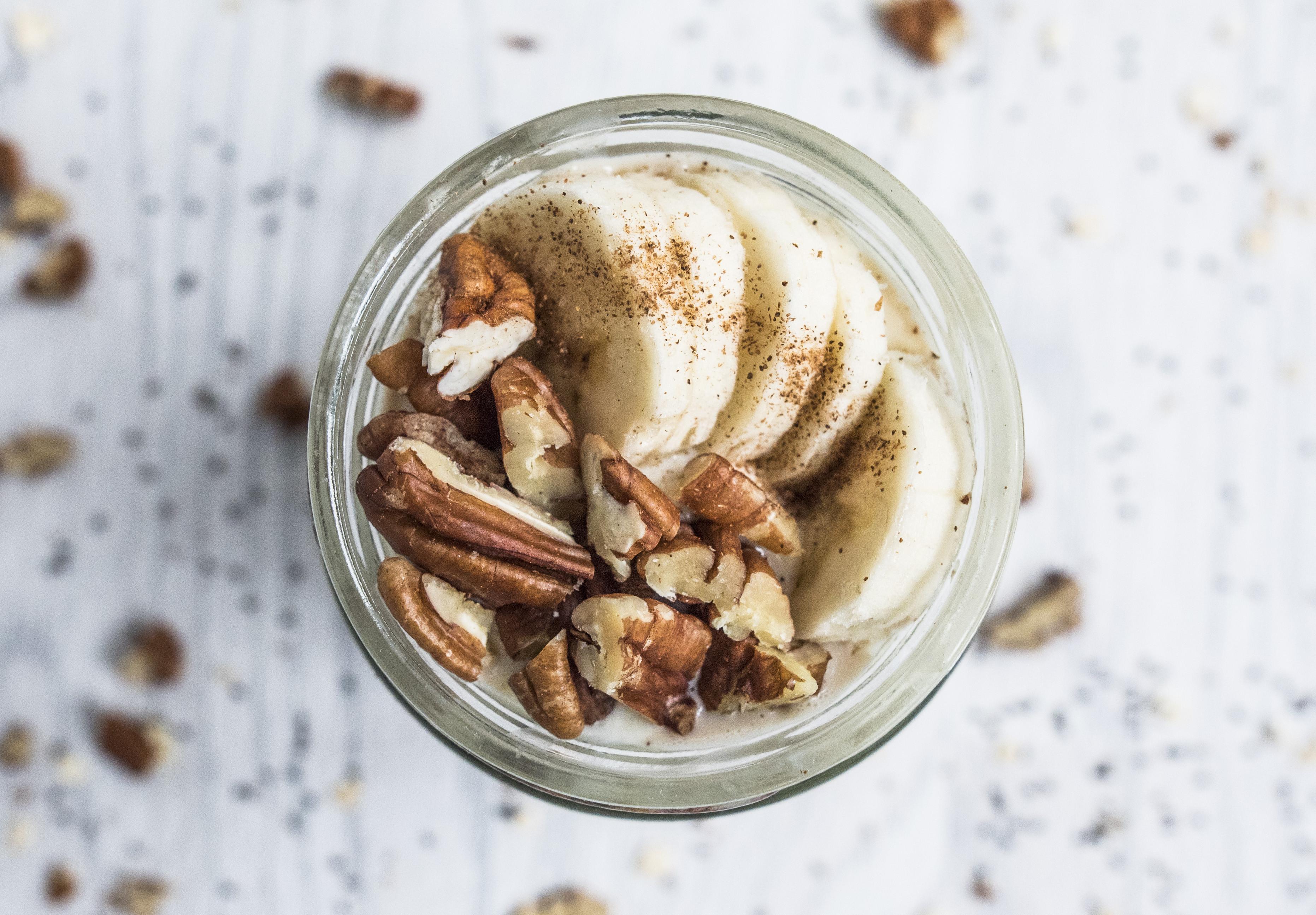 Healthy Banana Bread Recipe With Oats  Healthy banana bread overnight oats recipe Takes 5