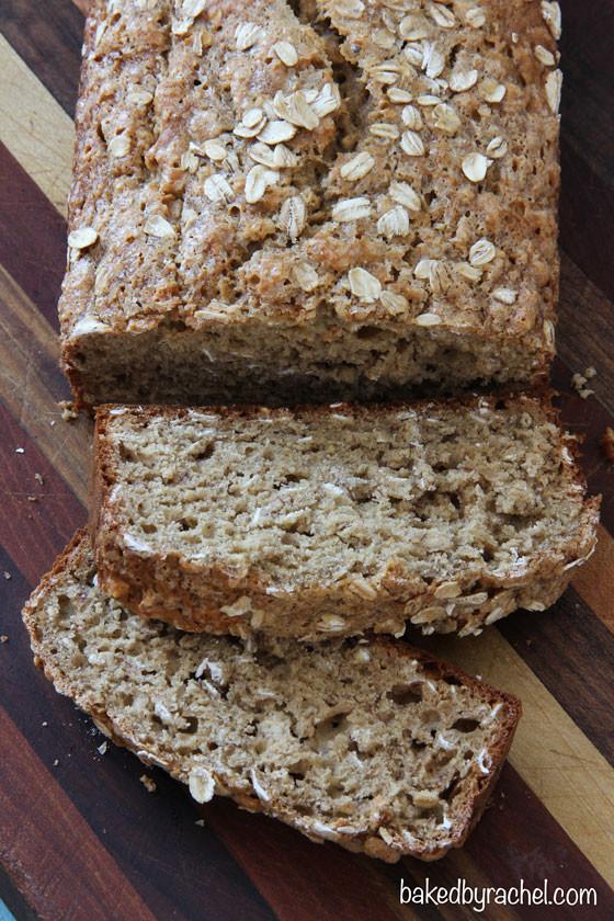 Healthy Banana Bread Recipe With Oats  Whole Wheat Oatmeal Banana Bread
