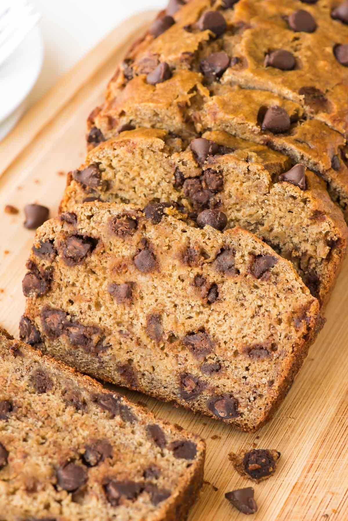 Healthy Banana Bread  Healthy Banana Bread Recipe with Chocolate Chips