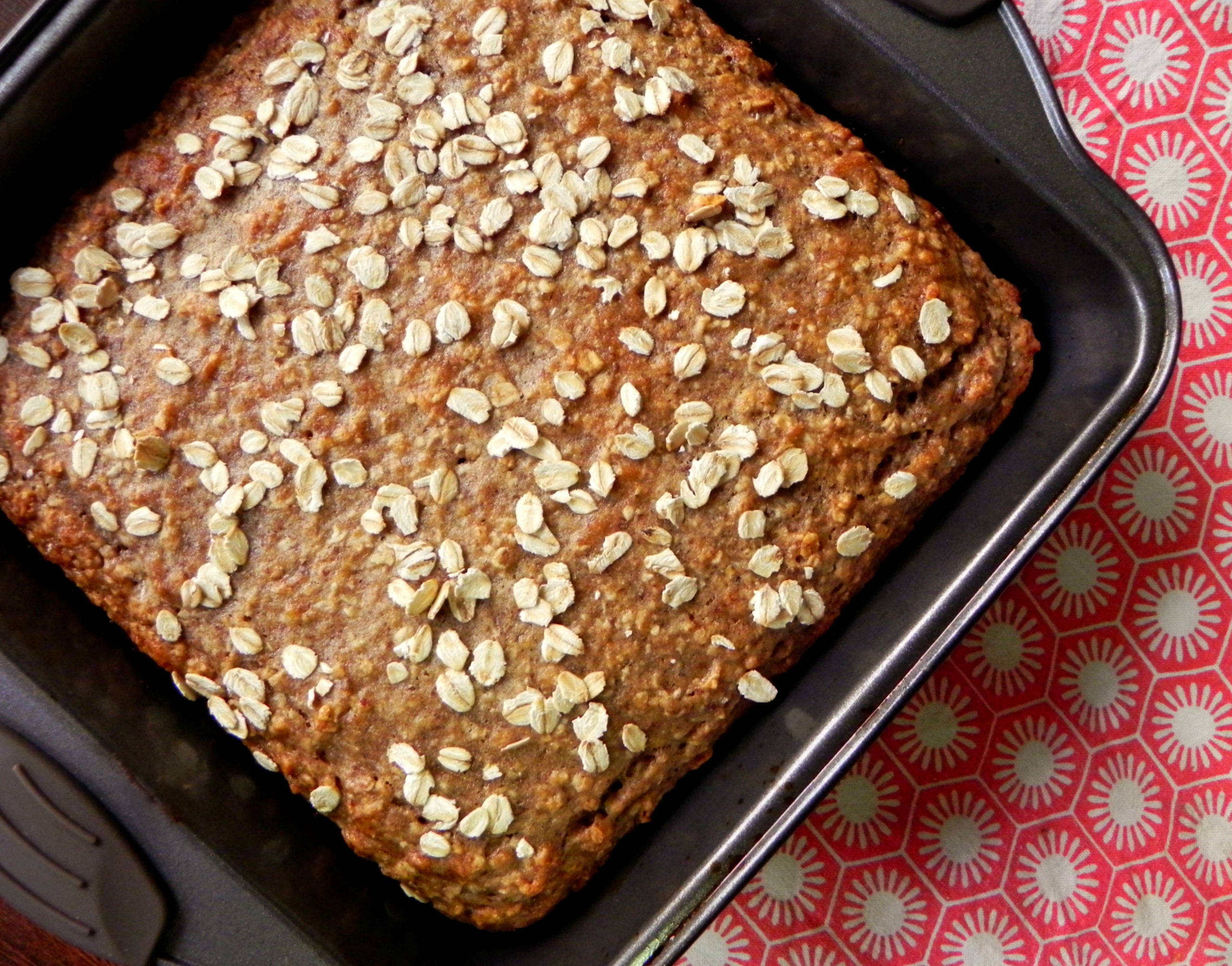 Healthy Banana Bread With Oats  Vegan Banana Oat Bread