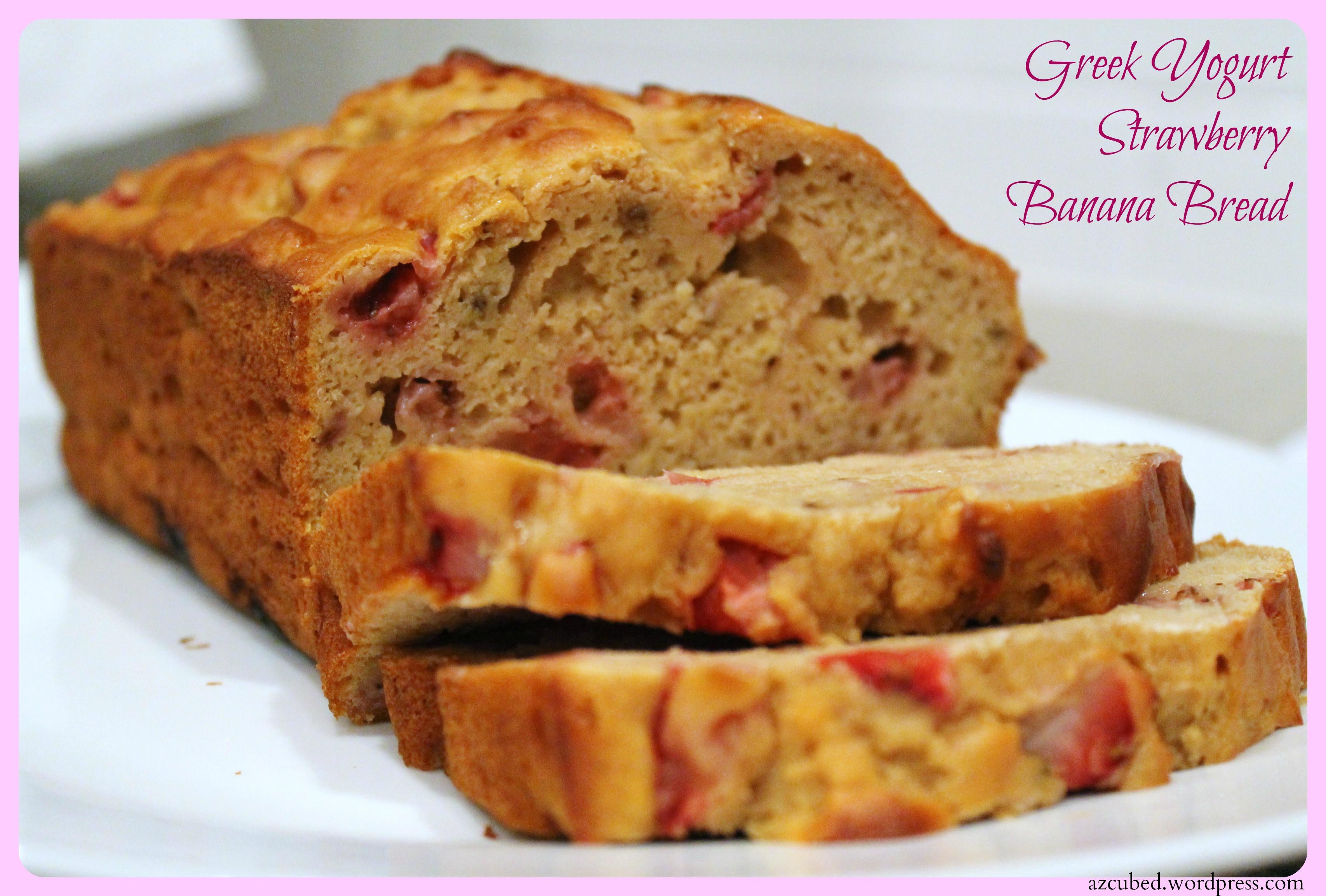 Healthy Banana Bread With Yogurt  Greek Yogurt Strawberry Banana Bread Healthy & Delicious