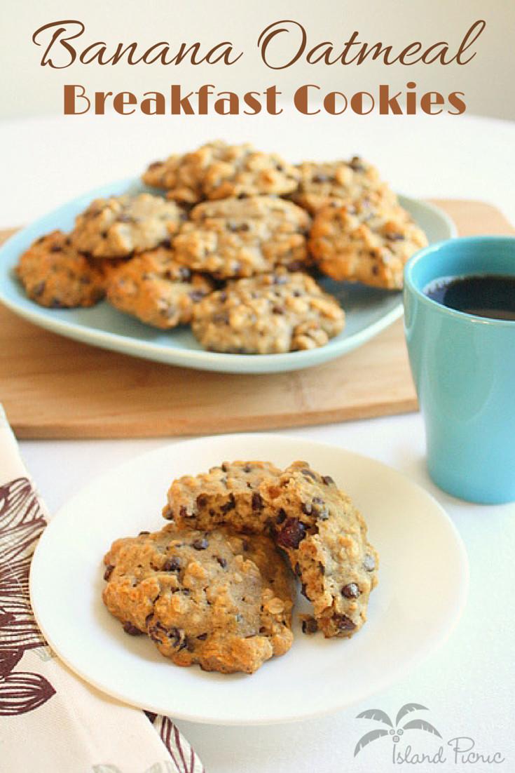 Healthy Banana Breakfast Cookies  Banana Oatmeal Breakfast Cookies — Healthy & Vegan