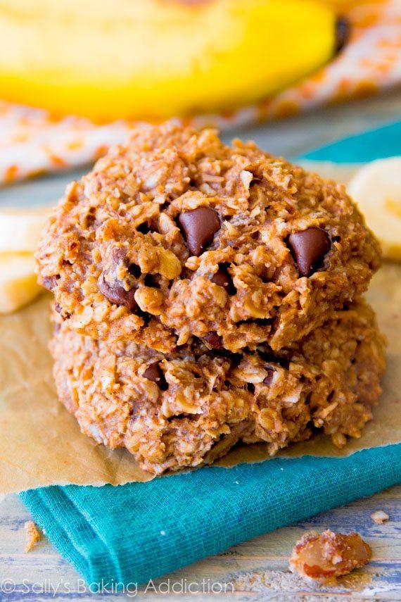 Healthy Banana Breakfast Cookies  Banana Chocolate Chip Breakfast Cookies Sallys Baking