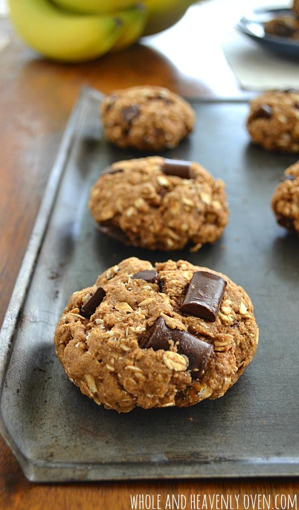 Healthy Banana Breakfast Cookies  Healthy Banana Chocolate Breakfast Cookies