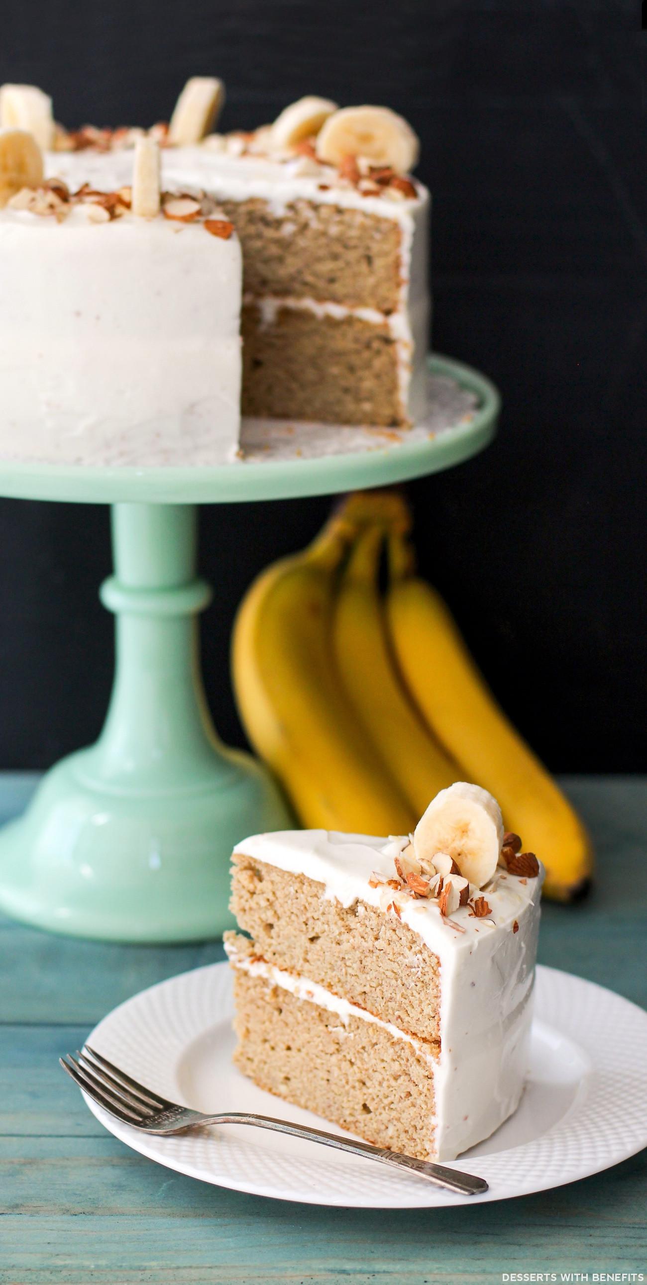 Healthy Banana Cake  Gluten Free Healthy Banana Cake with Cream Cheese Frosting