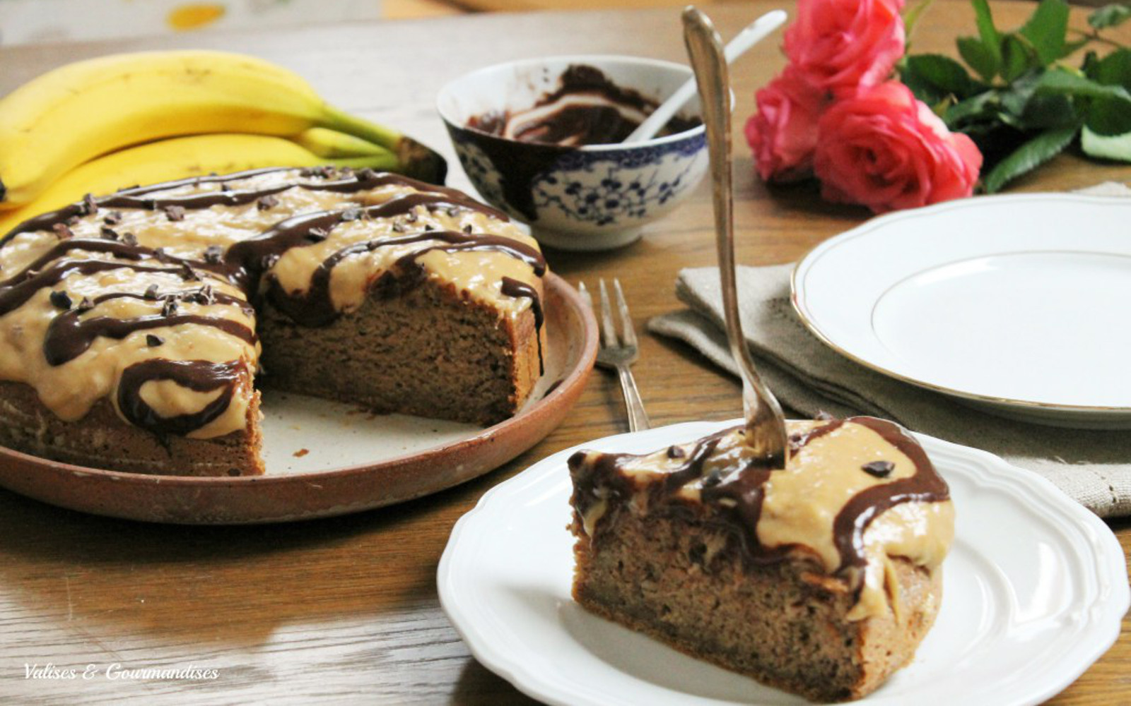 Healthy Banana Cake  Healthy Banana Cake With Peanut Butter Frosting and Maca