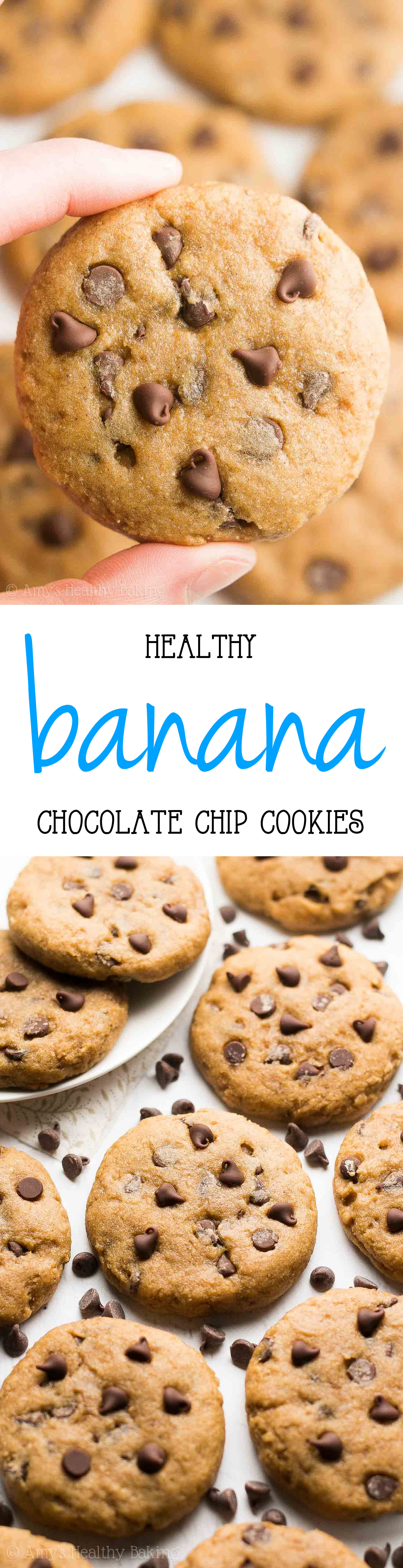 Healthy Banana Chocolate Chip Cookies  Healthy Banana Chocolate Chip Cookies Recipe Video