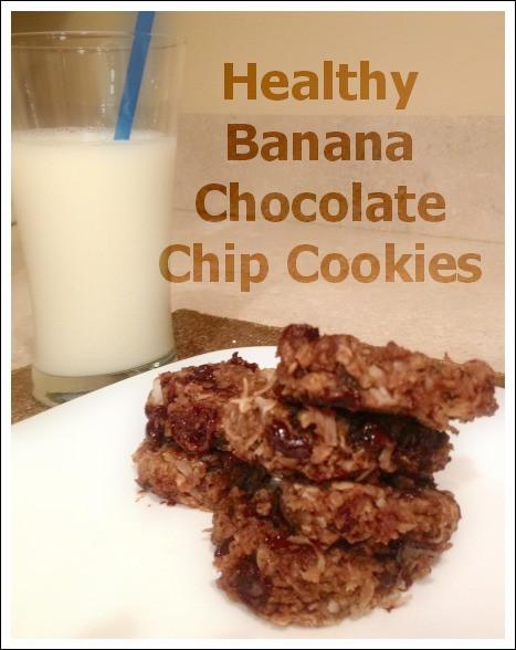 Healthy Banana Chocolate Chip Cookies  Twin Tested Healthy Banana Chocolate Chip Cookies