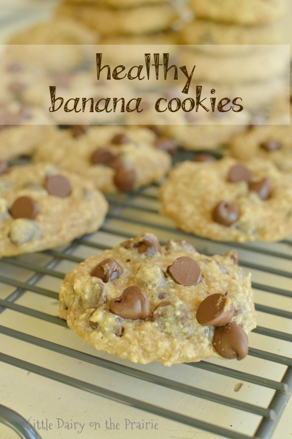 Healthy Banana Chocolate Chip Cookies  Healthy Chocolate Chip Banana Cookies Little Dairy