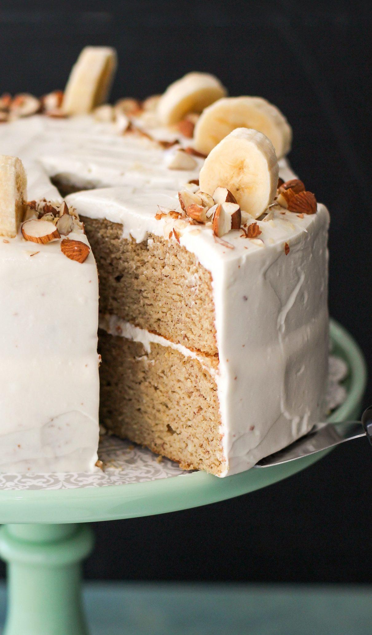 Healthy Banana Dessert  Gluten Free Healthy Banana Cake with Cream Cheese Frosting