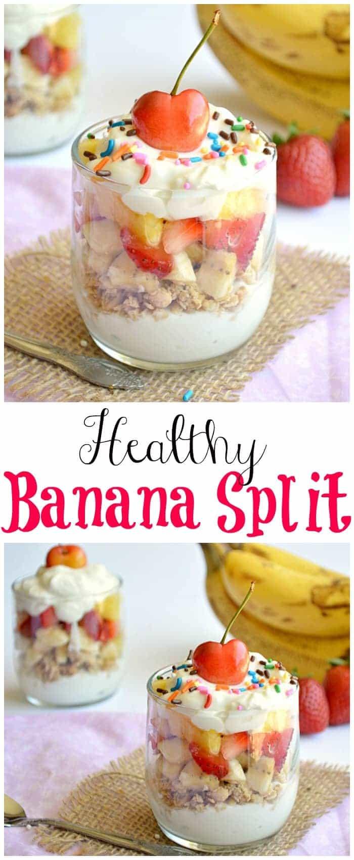 Healthy Banana Dessert  Healthy Banana Split