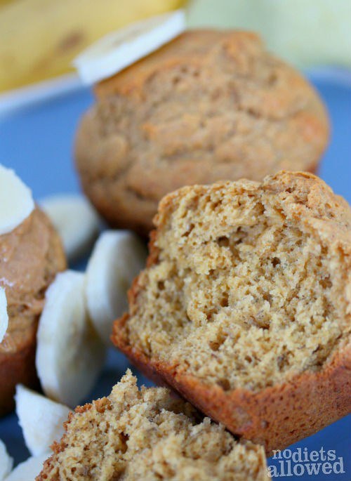 Healthy Banana Muffins With Applesauce  Banana Muffins