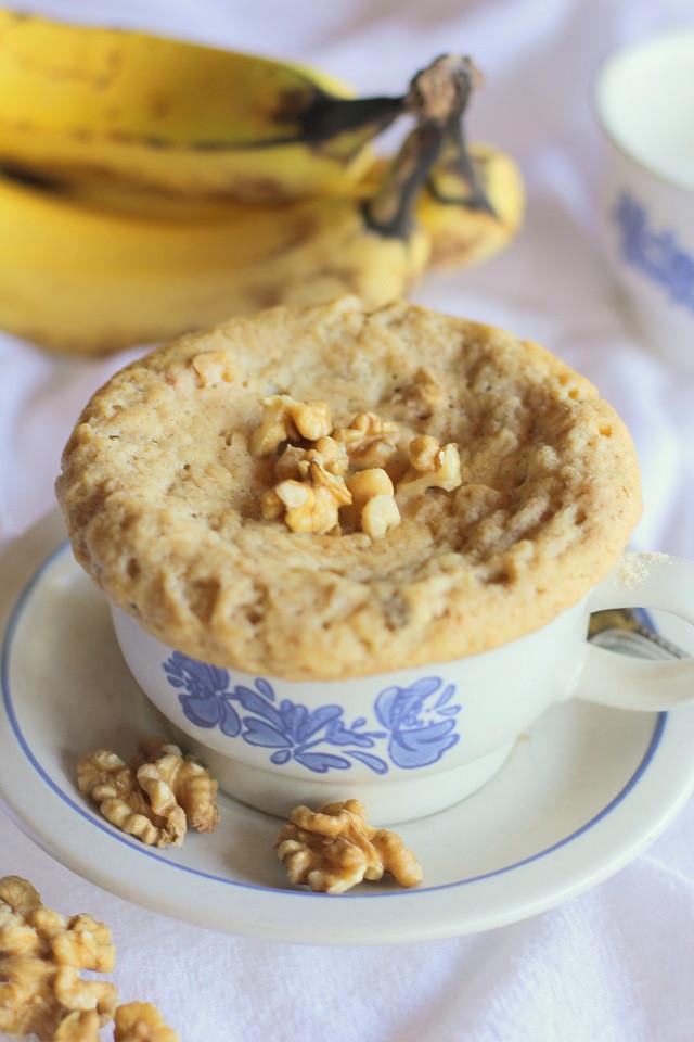 Healthy Banana Mug Cake  Paleo Banana Bread Mug Cake Two Ways The Roasted Root