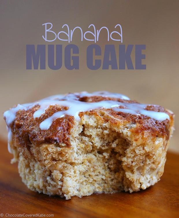 Healthy Banana Mug Cake  Low Fat Banana Mug Cake