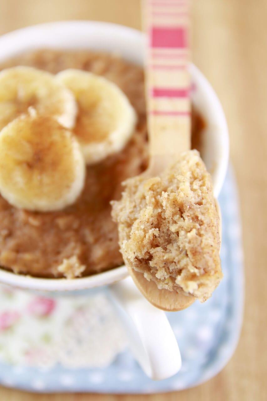 Healthy Banana Mug Cake  Microwave Peanut Butter & Banana Mug Cake Microwave Mug