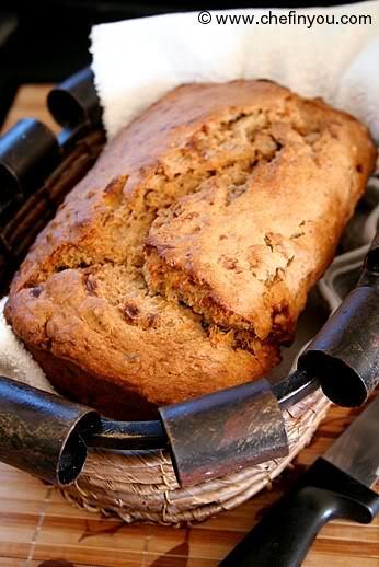 Healthy Banana Nut Bread Recipe  Vegan Banana Nut Bread with Maple Syrup Recipe