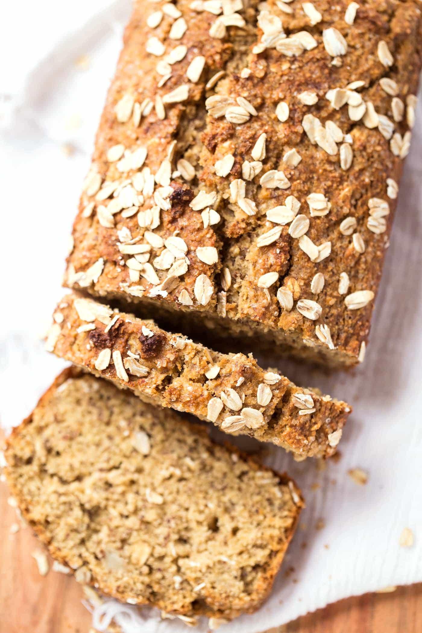 Healthy Banana Oat Bread  healthy oatmeal banana bread