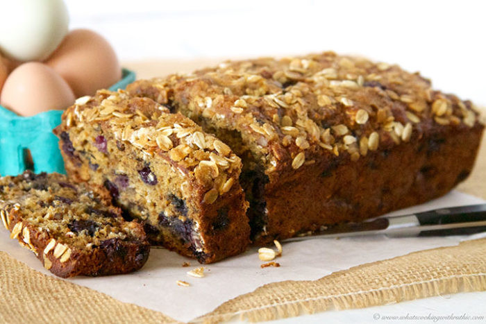 Healthy Banana Oatmeal Bread  Blueberry Banana Oat Bread Cooking With Ruthie