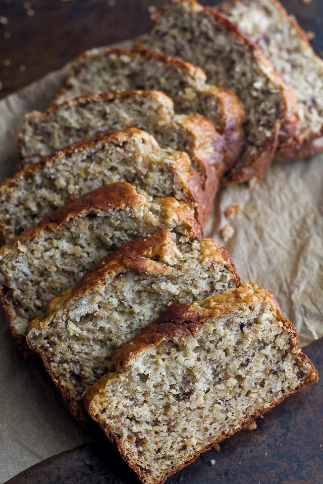Healthy Banana Oatmeal Bread  healthy oatmeal banana bread