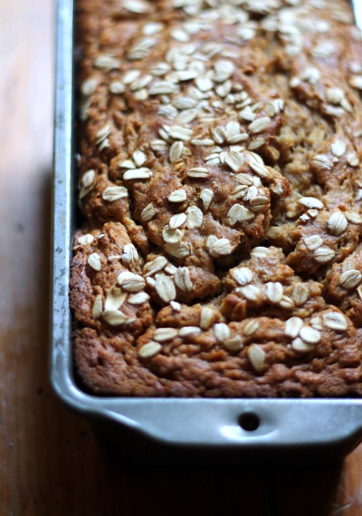 Healthy Banana Oatmeal Bread  Whole Wheat Oatmeal Applesauce Banana Bread
