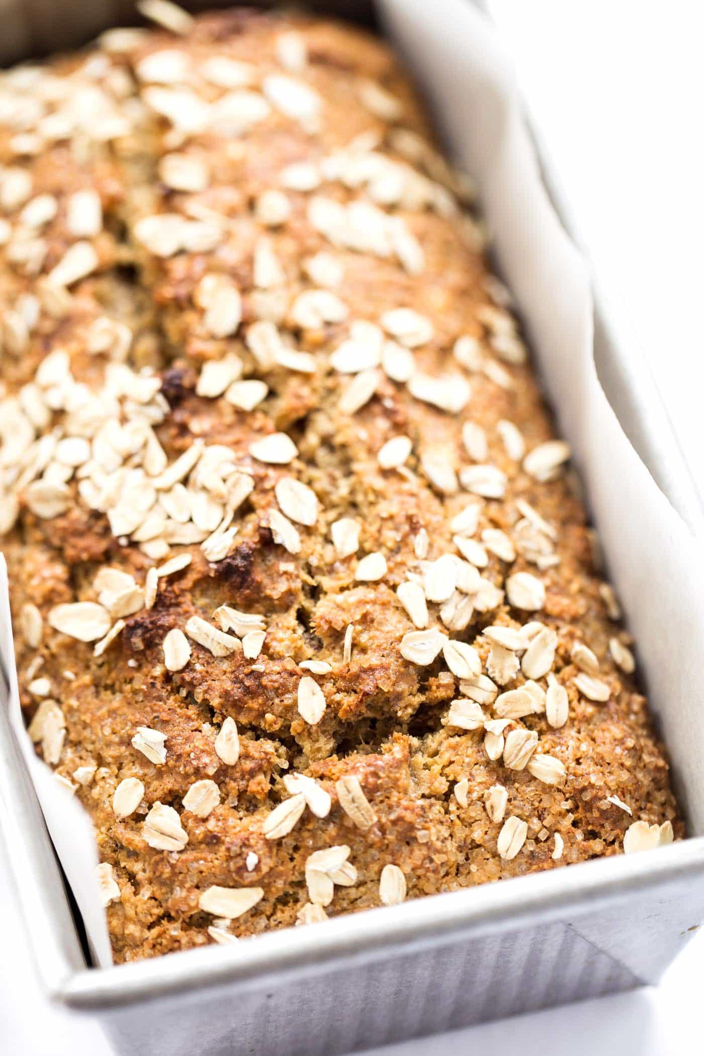 Healthy Banana Oatmeal Bread  Healthy Honey Oatmeal Banana Bread Simply Quinoa