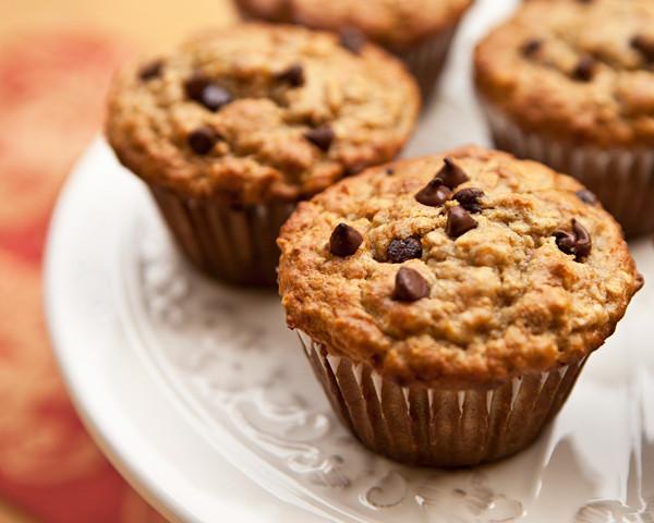 Healthy Banana Oatmeal Chocolate Chip Muffins  Banana Oatmeal Chocolate Chip Muffins – eRecipe