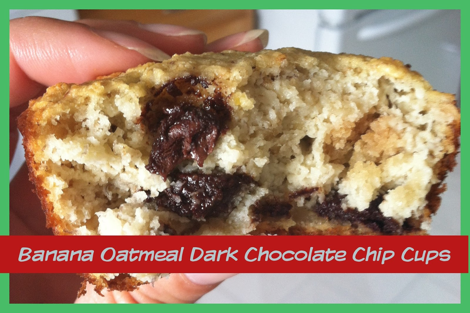Healthy Banana Oatmeal Chocolate Chip Muffins  Banana Oatmeal Dark Chocolate Chip Muffins Fit and