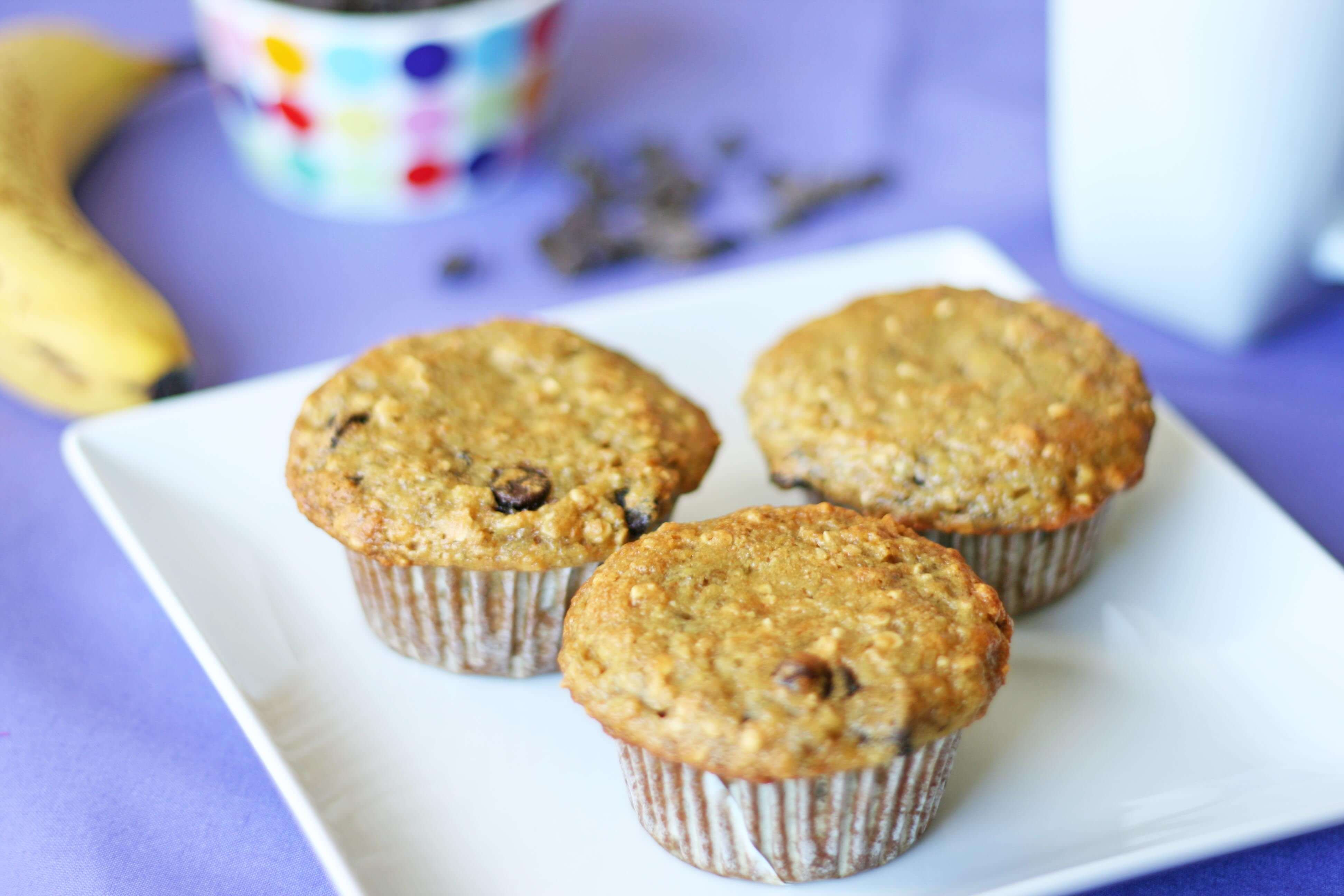 Healthy Banana Oatmeal Chocolate Chip Muffins  Oatmeal Chocolate Chip Muffins Recipe — Dishmaps