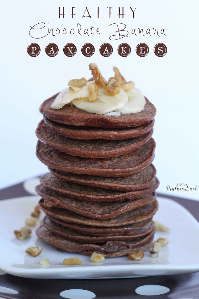Healthy Banana Pancakes  Healthy Chocolate Banana Pancakes