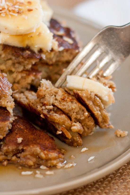 Healthy Banana Pancakes Oats  Gluten Free Banana Oat Pancakes