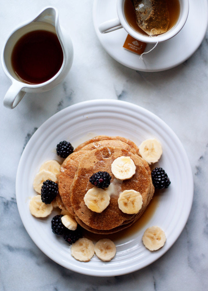Healthy Banana Pancakes Oats  Gluten Free Vegan Banana Oat Blender Pancakes Kitchen Treaty