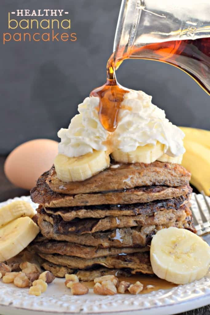 Healthy Banana Pancakes  Healthy Banana Nut Pancakes Shugary Sweets
