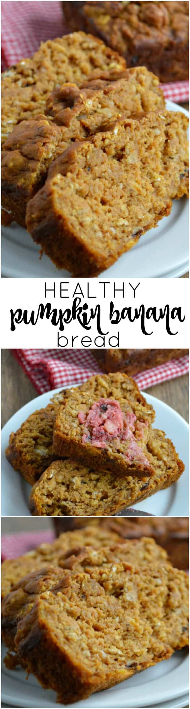 Healthy Banana Pumpkin Bread With Applesauce  Healthy Pumpkin Banana Bread Sugar Dish Me