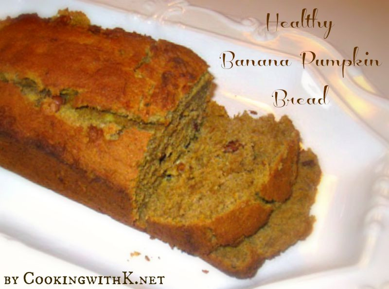 Healthy Banana Pumpkin Bread With Applesauce  Cooking with K Brandy s Healthy Banana Pumpkin Bread